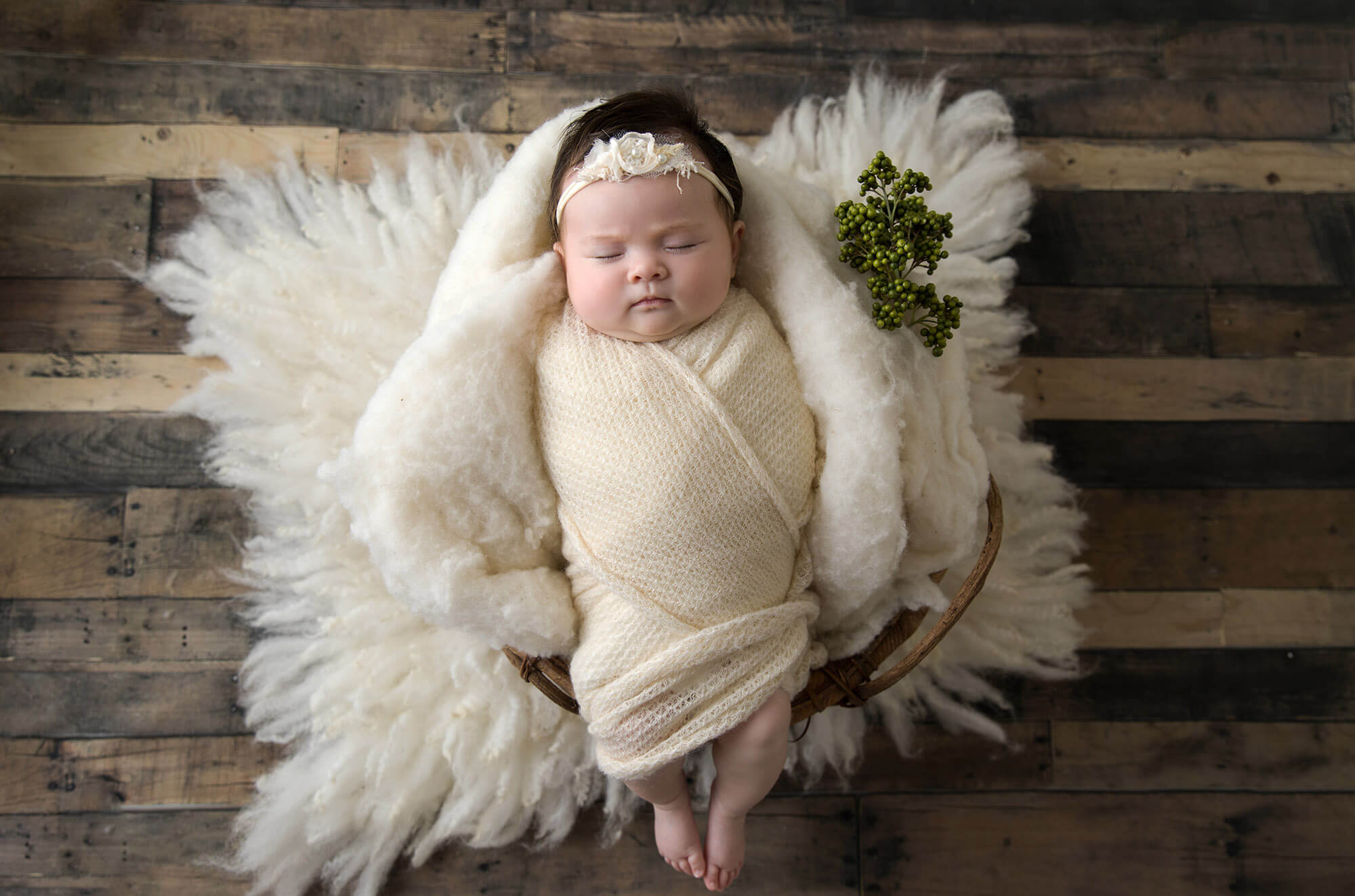 newborn posed photo shoot