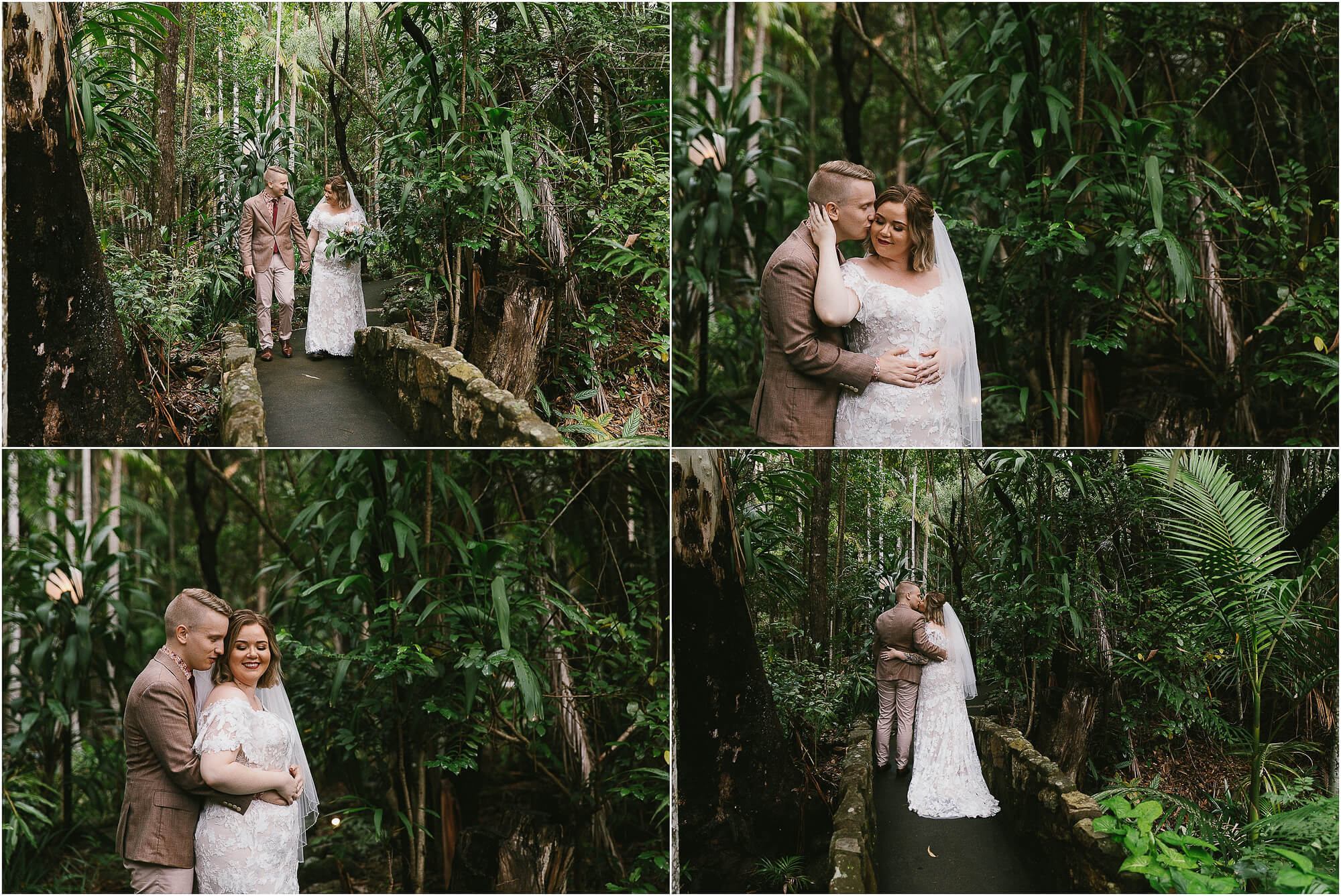rainforest wedding at Cedar Creek Lodges