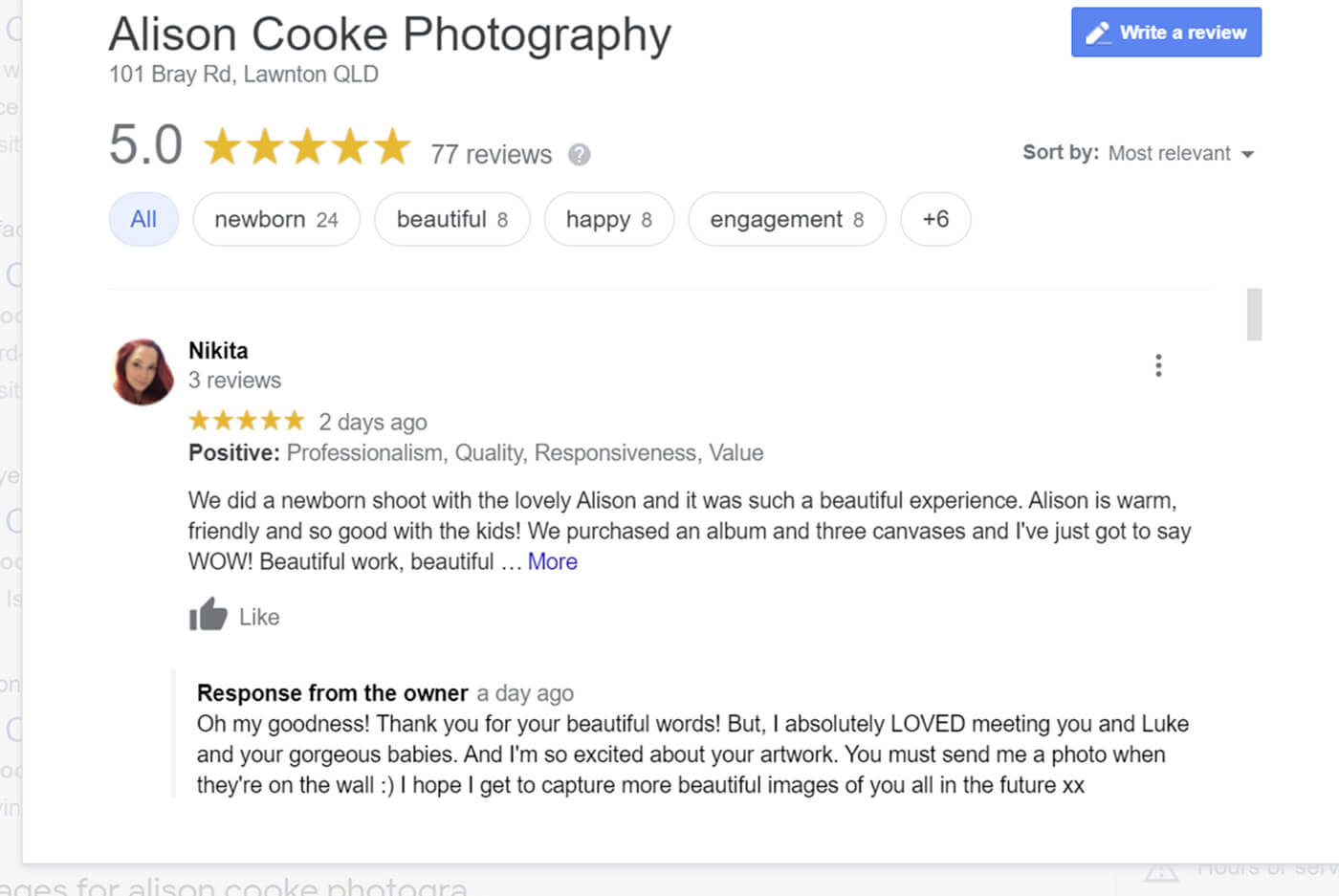 newborn baby photography reviews