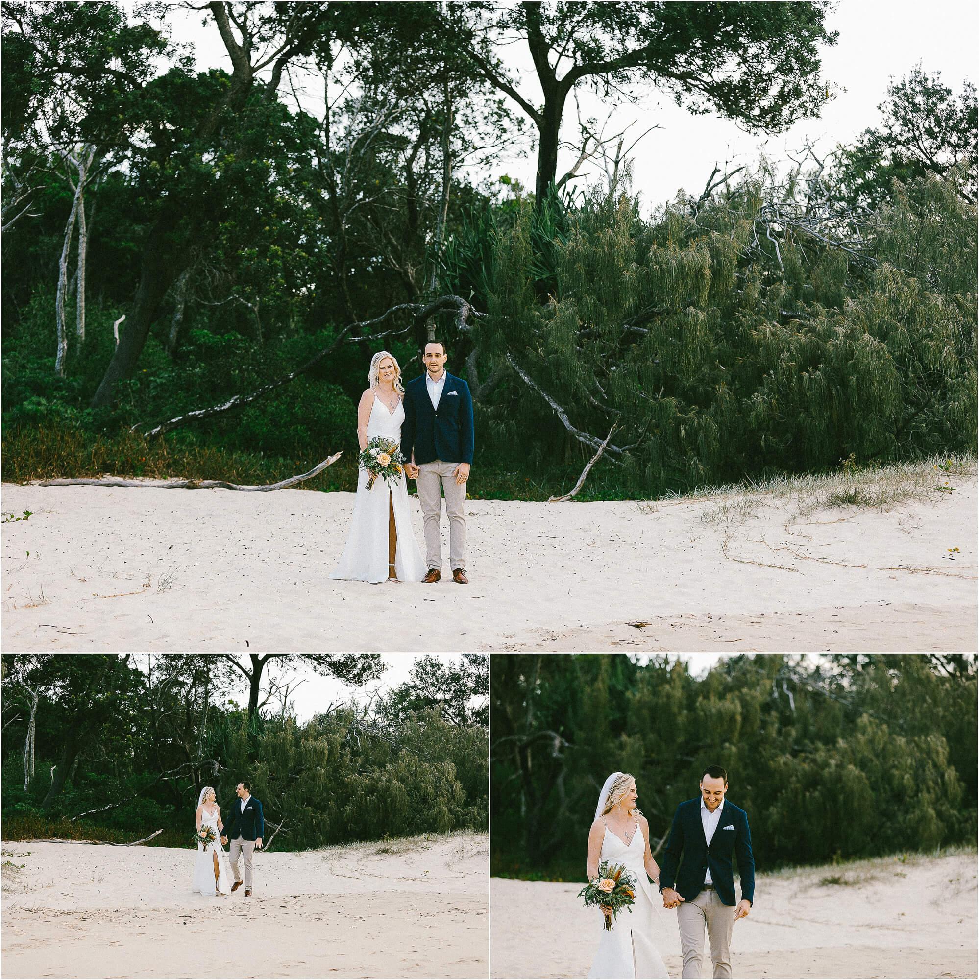 noosa beach wedding photos